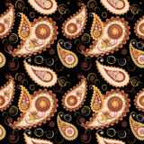 Seamless paisley background Royalty Free Stock Image