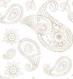 Seamless paisley background for design Royalty Free Stock Image