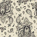 Seamless Paisley background. Royalty Free Stock Photography