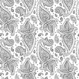 Seamless Paisley background. Stock Photos