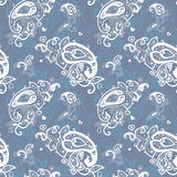 Seamless Paisley background. Stock Photo