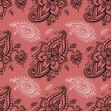 Seamless Paisley background. Royalty Free Stock Photo