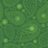 Seamless Paisley background. Elegant Hand Drawn vector pattern. Stock Image