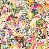 Seamless Paisley background, floral pattern. Colorful ornamental backdrop. Color wallpaper with decorative flowers Stock Photos