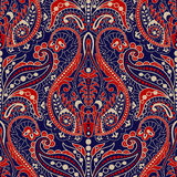 Seamless Paisley background, floral pattern. Colorful ornamental background. Indian ornament. Beautiful Indian ornament Stock Image