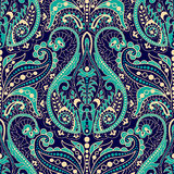 Seamless Paisley background, floral pattern. Colorful ornamental background. Indian ornament. Beautiful Indian ornament Royalty Free Stock Images
