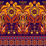 Seamless Paisley background, floral pattern. Colorful ornamental background. Indian ornament. Beautiful Indian ornament Stock Photo