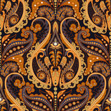 Seamless Paisley background, floral pattern. Indian ornament Royalty Free Stock Photography