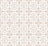 Seamless paisley background with flowers Stock Photo