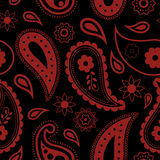 Seamless Paisley background. Hand Drawn vector pattern. Royalty Free Stock Photos