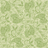 Seamless paisley background of pale green and tan colors Royalty Free Stock Images