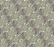 Seamless paisley background vector illustration