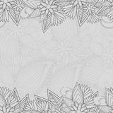 Seamless paisley background with text space vector illustration