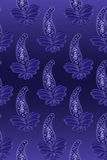 Seamless paisley blue design Stock Photo