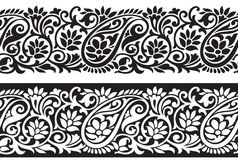 Seamless paisley border Stock Photography