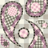 Seamless paisley checked Royalty Free Stock Photo