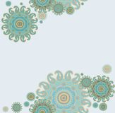 Seamless paisley design Stock Photo