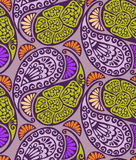 Seamless paisley and floral pattern Stock Photos