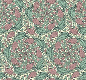 Seamless paisley and floral pattern Royalty Free Stock Photography