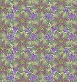 Seamless paisley and floral pattern Royalty Free Stock Image