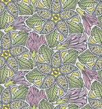 Seamless paisley and floral pattern Stock Images