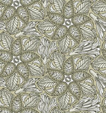 Seamless paisley and floral pattern Stock Photography