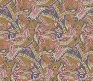 Seamless paisley floral vintage pattern royalty free illustration