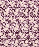 Seamless paisley with flower design stock illustration