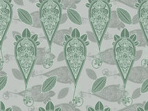 Seamless paisley in green Stock Image