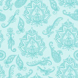 Seamless Paisley indian pattern Stock Images