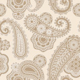 Seamless paisley lacy pattern Royalty Free Stock Photos
