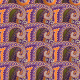 Seamless paisley ornament. Bright retro-styled seamless paisley ornament Stock Images