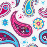 Seamless paisley pattern. Seamless colorful background from a paisley ornament stock illustration