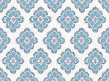 Seamless paisley pattern. In blue on white background Royalty Free Stock Images