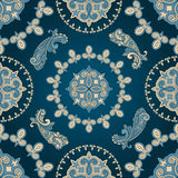 Seamless paisley pattern. In blue Stock Photo