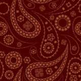 Seamless paisley pattern. On red Royalty Free Stock Photo