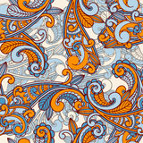 Seamless paisley pattern. Bright colors Stock Image