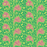 Seamless paisley pattern. Seamless (repeatable) floral paisley pattern (background, wallpaper), included in swatch palette, you see four tiles here Stock Photography