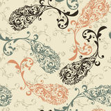 Seamless Paisley Pattern. Seamless pattern with highly detailed paisley elements Royalty Free Stock Image