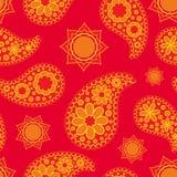 Seamless Paisley pattern, boho style Stock Photography