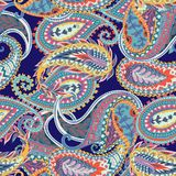 Seamless paisley pattern. Colorful floral ornament. Oriental design stock illustration