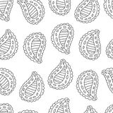 Seamless paisley pattern Royalty Free Stock Photos