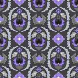 Seamless paisley pattern.orient or russia design.  illustr Royalty Free Stock Image