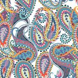 Seamless paisley pattern. Oriental design for fabric, prints, wrapping paper, card, invitation, wallpaper. Vector illustration stock illustration