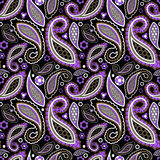 Seamless paisley pattern, oriental flower. stock  Royalty Free Stock Image