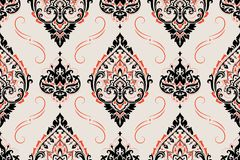 Seamless paisley pattern Royalty Free Stock Images