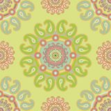 Seamless paisley decor Royalty Free Stock Image