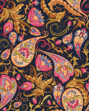 Seamless Paisley Pattern. Vintage flowers seamless paisley pattern. Traditional persian pickles ornament. Fabric, textile, wrapping paper, card background Royalty Free Stock Photos