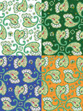 Seamless paisley patterns Royalty Free Stock Image