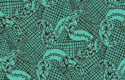 Seamless paisley with sky bandanna background. Seamless paisley with sky bandanna green background royalty free illustration